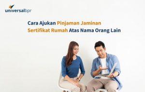 pinjaman jaminan sertifikat rumah atas nama orang