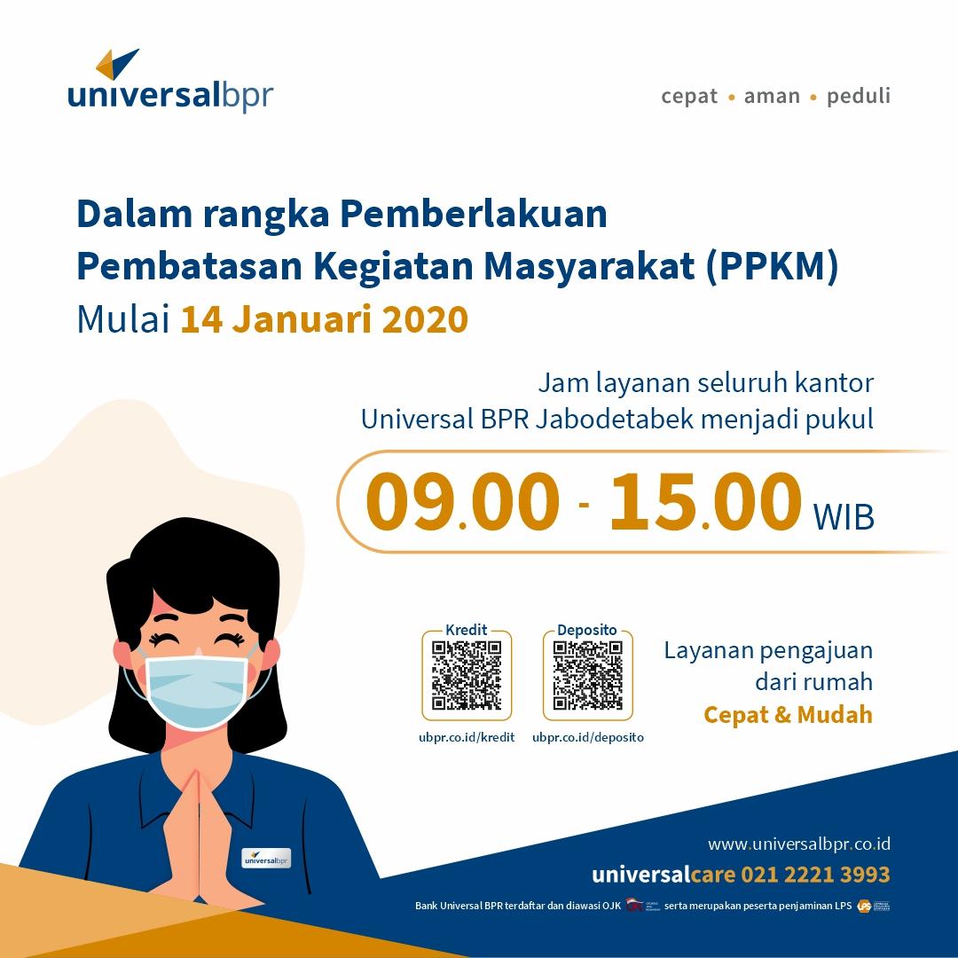 Perubahan jam operasional universal bpr