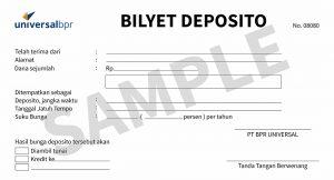 Bilyet Deposito